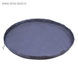 Коврик для игрушек диаметр 150 см, цвет синий