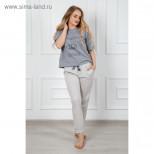 Комплект женский (футболка, брюки) Каролина, цвет серый