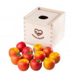 Счетный материал 12 наливных яблочек в коробочке-сортере
