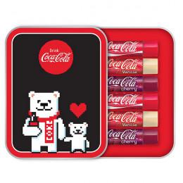 Lip Smacker / Coca-Cola Annual Tin-Pixel Набор бальзамов для
