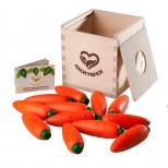 Счетный материал 12 морковок в коробочке-сортере, Леснушки