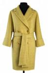01-5749 Пальто женское демисезонное (пояс) Вареная шерсть Же