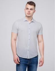 Бежевая брендовая молодежная рубашка Semco модель 10452 9477