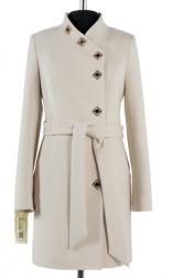 01-4888 Пальто женское демисезонное (пояс) Кашемир Молочный