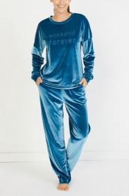 PETROLYESILI Misty Velvet Sweatshirt