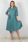 101216 Платье (Brava)Бирюзовый/горох