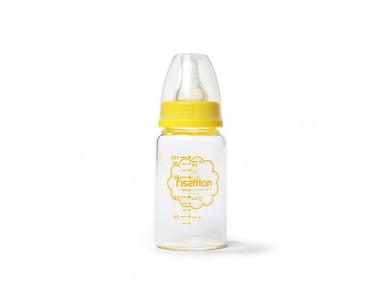 9160 FISSMAN Бутылочка для кормления 120 мл, цвет ЖЕЛТЫЙ (жа
