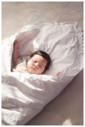 Одеяло- конверт  для детей из 100% овечьей шерсти белый