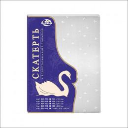 """Скатерть п/э """"Белый лебедь"""" 150х182 см В65-116"""