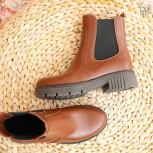 Ботинки Челси из рыжей кожи.