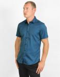 Рубашка синяя молодежная Amato модель 19KG17587