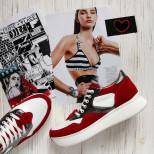 Стильные кожаные кроссовки. New Collection 18