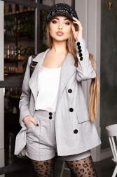 Стильный костюм с шортами и пиджаком оверсайз Р 2396 L