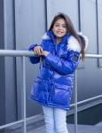 Зимняя удлиненная куртка для девочки ZKD-13