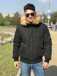 Мужская куртка Е82570-1 черная