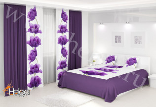 Фотокомплект Лиловые тюльпаны 2-х спальный