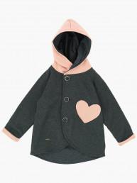 Куртка (пальто) UD 6815 черн/розовый