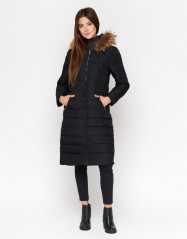 Куртка женская качественная черная модель 9615