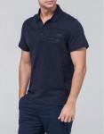 Темно-синяя футболка поло Braggart оригинального дизайна