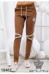Спортивные замшевые штаны - 18462