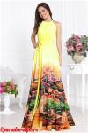 Платье желтое купон города АМЕРИКАНКА