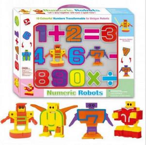 Развивающая игрушка для обучения счету Роботы-цифры