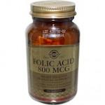 Solgar, Фолиевая кислота, 800 мкг, 250 таб