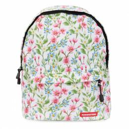 Рюкзак с цветами (белый)