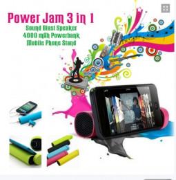 Зарядка, Колонка, Подставка Power Jam 3 в 1 - PowerBank 4000