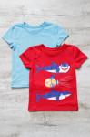 Набор футболок (голубая + красная ) Акулы
