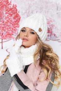Комплект «Агнес» (шапка, хомут и перчатки) 4633-37 от Braxto
