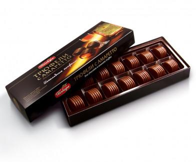 Трюфели шоколадные с амаретто коробка 180 г
