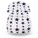Шапка детская трикотаж звезда белый тонкая