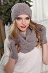 Комплект «Франческа» (шапка, шарф-снуд и перчатки) 4302-38