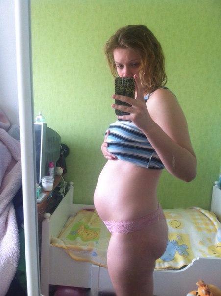 Живот на 27-28 неделе беременности