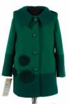 10-0257 Пальто детское демисезонное Кашемир Зеленый