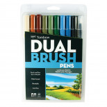 Tombow Dual Brush Markers, Landscape, 10-Pack