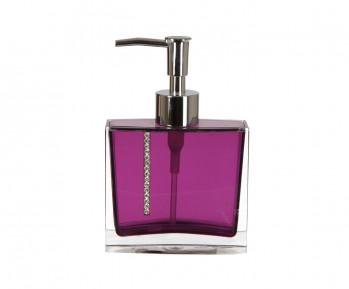 Roma (фиолетовый) Дозатор для жидкого мыла, полимер
