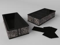 Короб для обуви, на 4 ячейки (перегородки съемные на липучке