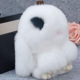 Брелок Зайка с Ресничками Меховой белый (18-20 см)