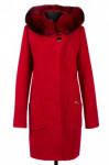 Пальто женское утепленное Букле Красный