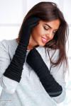 Длинные ангоровые перчатки