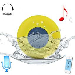 Водонепрониц. беспроводная Bluetooth колонка для душа желтая