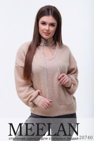 Женский свитер 20740 бежевый