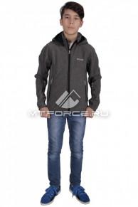 Куртка ветровка подростковая для мальчика серого цвета 034-2