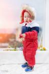 Теплый детский комбинезон