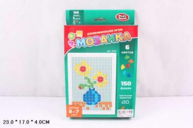 Р40561Play Smart мозаика микс, 150 фишек, 6 цв., 26х17х4см