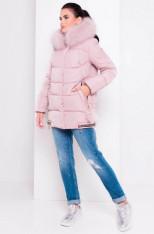 Пуховик Айлин 3114 (серо-розовый) Modus