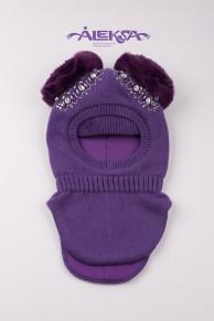 Шапка -шлем детская с утеплителем на х/б подкладке