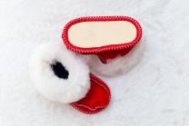 Пинетки Красные. 100% овчина